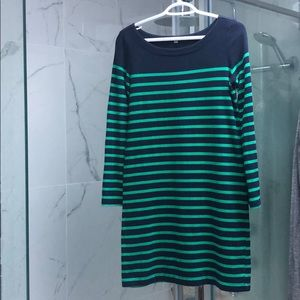 Gap long sleeve striped dress sz XS